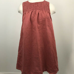 Cynthia Rowley Dusty Pink Linen Dress Size Medium